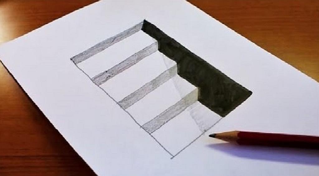 طريقة رسم ثلاثي الابعاد على الورق تعلم بالصور اروع الرسومات