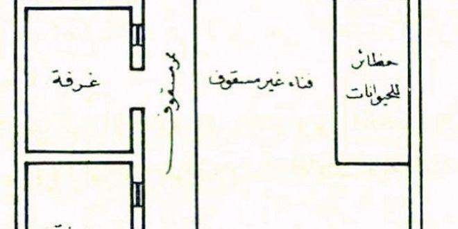 صورة مخطط بيت شعبي , اجمل تصاميم المنازل الشعبيه