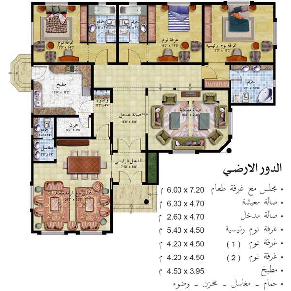 مخطط بيت شعبي , اجمل تصاميم المنازل الشعبيه