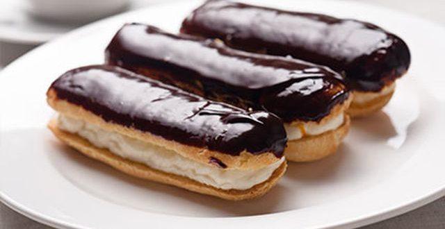 صورة حلويات غربية مشهورة , طريقة عمل الاكلير