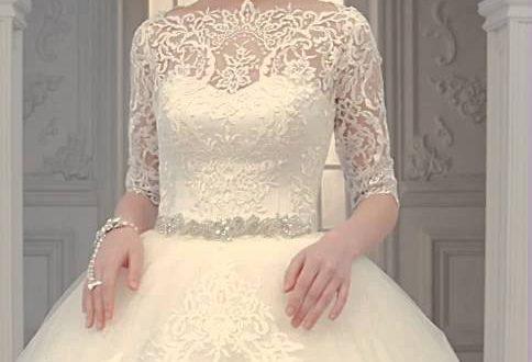 صور ارقى فساتين زفاف , صاحبة اجمل اطلاله