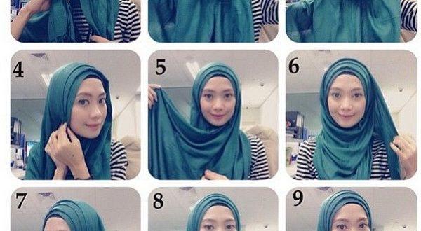صورة طرق لف الحجاب بالصور , احدث لفات الطرح للمحجبات