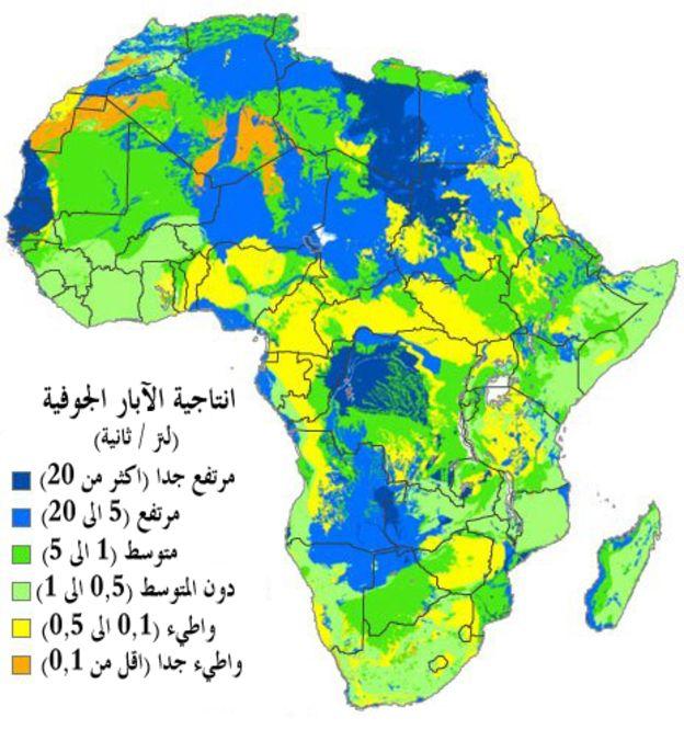 صور خريطة المياه الجوفية في الجزائر , الموارد المائيه بالدول العربيه