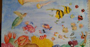 صورة رسم اعماق البحر , مهم لينا كلنا