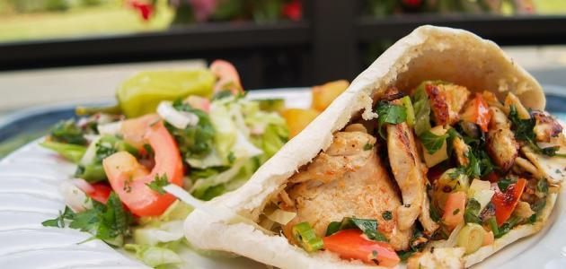 صورة طريقه الشاورما دجاج بالصور , وصفات للاكلات السريعه