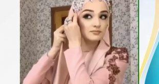 صورة ربطات حجاب للمناسبات , في اي مناسبة كوني مزة بحجابك