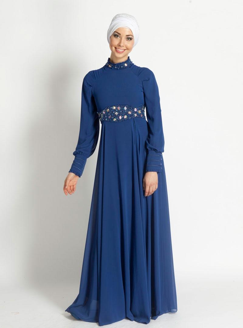 صورة احدث فصالات الفساتين للمحجبات , فساتين عصرية وشيك للمحجبات