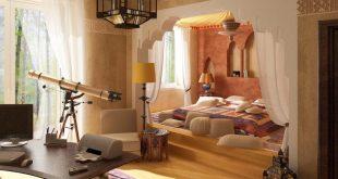 صورة غرفة النوم مغربية , جمل ديكورات غرف نوم