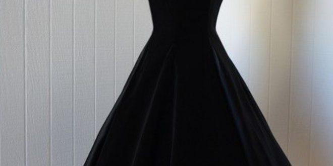 صورة فساتين سوداء قصيرة , تالقي وتجملي باشيك فساتين قصيره سوداء