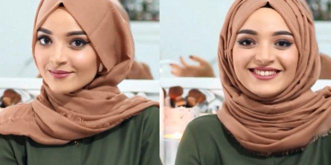 صورة طرق عمل الحجاب , جزء من اي مراة