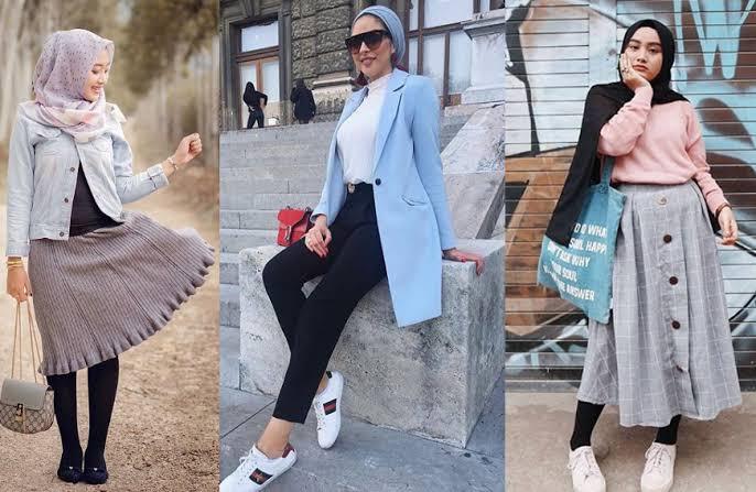 صورة ملابس محجبات موضة 2019 , اظهري باجمل طلاتك