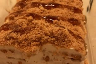 صورة حلى البسكويت بالكراميل , مذاق جميل و لذيذ عند تحلية البسكويت بالكراميل
