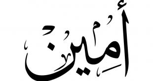 صورة اصل كلمة امين, هل الكلمة المعروفة لدينا امين هي كلمة من القران الكريم