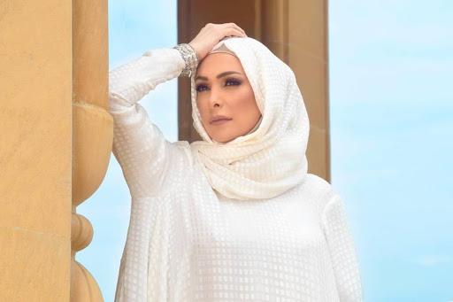 صورة حجاب امل حجازي, الجميلة امل حجازي رائعة وبديعة