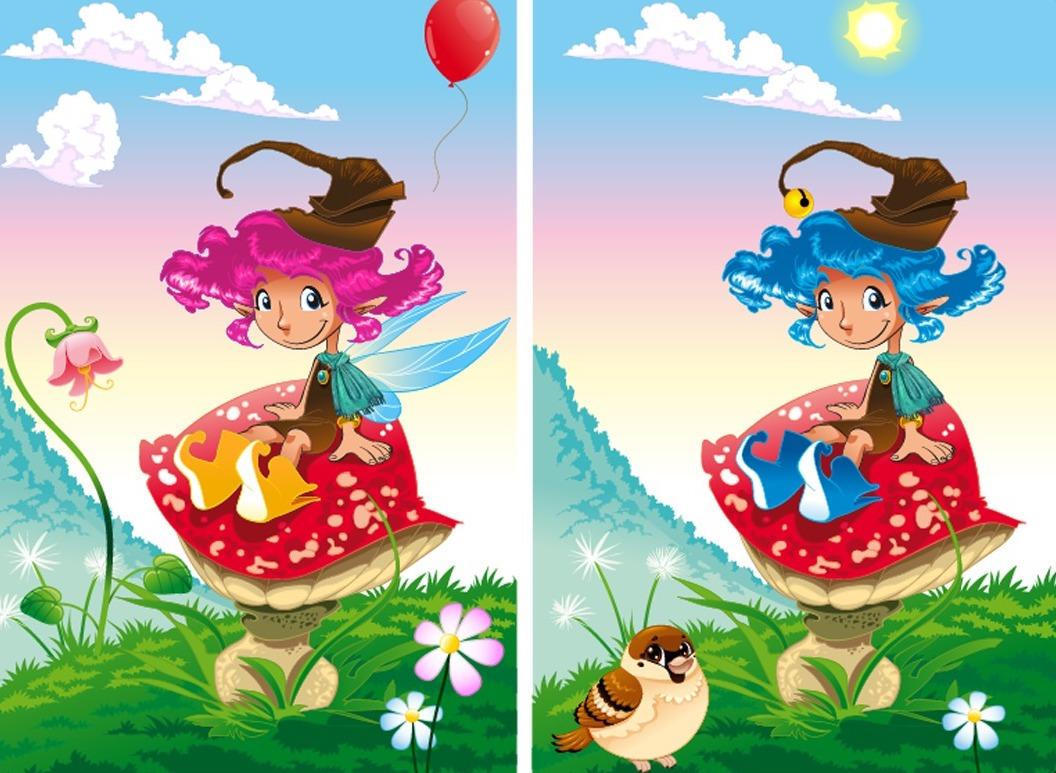 صورة الاختلافات بين الصورتين , طرق ملاحظة الاختلاف بين الصورتين