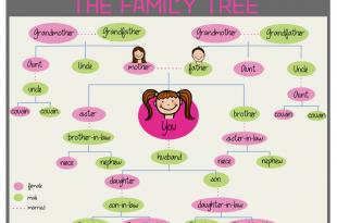 صورة اسماء العائلة بالانجليزية, كل افراد العائلة اعرفهم باللغة الانجليزية